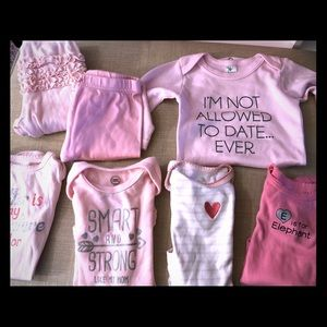 Pretty in Pink- baby girl lot
